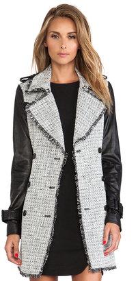 Rachel Zoe Christopher Tweed Trench Coat