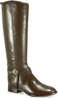 Tory Burch Bristol - Brown Leather Riding Boot