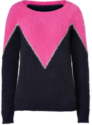 Juicy Couture Dragonfruit Combo Pink/Navy St. Anton Pullover