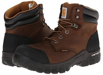 Carhartt 6 Rugged Flex Waterproof Comp Toe Work Boot (Brown) Men's Work Boots