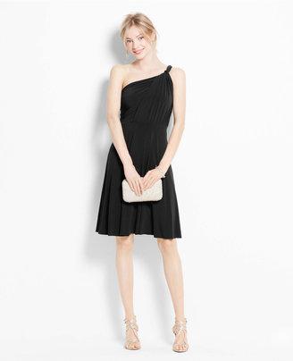 Ann Taylor Petite Jersey One Shoulder Bridesmaid Dress