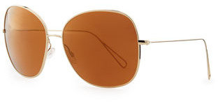 Oliver Peoples Isabel Marant par Daria 62 Oversized Sunglasses, Light Gold/Mirrored Peach