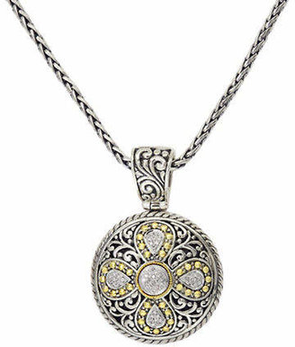 Effy Sterling Silver And 18K Yellow Gold Diamond Pendant
