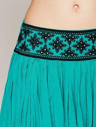 Free People FP ONE Kelisi Embroidered Skirt