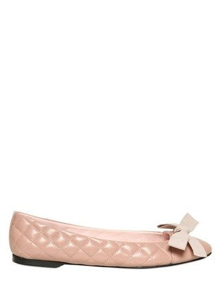 RED Valentino Quilted Leather Ballerina Flats With Bow