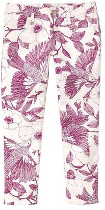 Gap 1969 Garden Floral Legging Skimmer Jeans