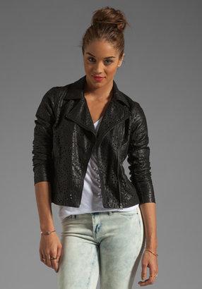 Blank NYC BLANKNYC Laser Cut Leather Jacket