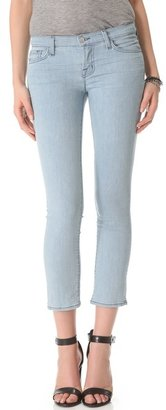 J Brand Seven-Eighths Cropped Skinny Jeans