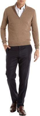 Malo Mock Neck Zip Sweater
