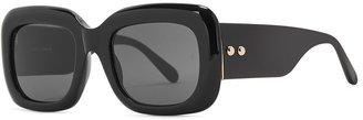 Linda Farrow Luxe Black Square-frame Sunglasses