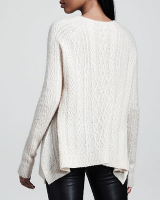The Row Cable-Knit Swing Sweater