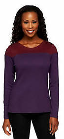 Liz Claiborne New York Long Sleeve Color-Block Knit Top $34.50 thestylecure.com