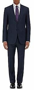 Barneys New York Men's Lotus Wool Sharkskin Two-Button Suit - Navy