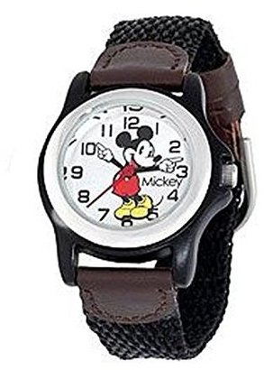 Disney Women's MCK620 Mickey Mouse Moving Hands Black and Brown Strap Watch $26.50 thestylecure.com