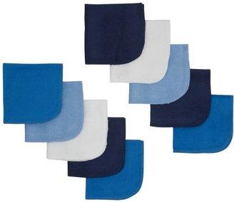 Gerber 10PK Washcloth - Multicolor (Blue)
