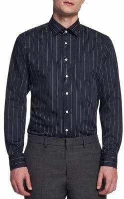 Seidensticker Pinstripe Button-Down Dress Shirt