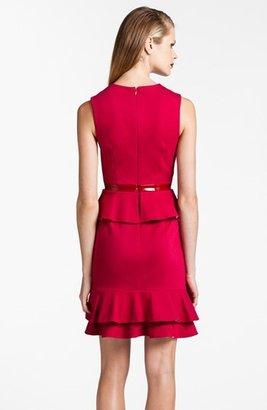 Cynthia Steffe 'Bardot' Ruffled Peplum Sheath Dress