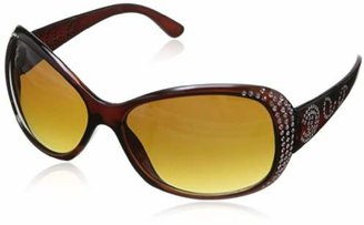 MLC Eyewear Women's Rhinestone Oval Shades Sunglasses