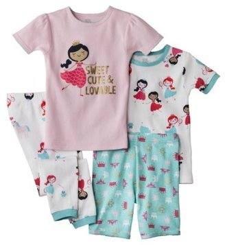 Carter's Just One You® by Infant Toddler Girls' 4-Piece Tight Fit Pajama Set
