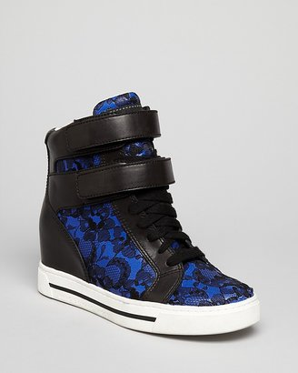 Marc by Marc Jacobs High Top Wedge Sneakers - Wedge Lace