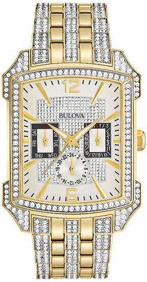 Bulova Octava Mens Multi-Function Two Tone Stainless Steel Bracelet Watch-98c109