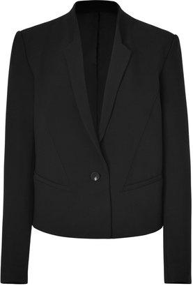 Helmut Lang Black Wool-Blend Form Suiting Blazer