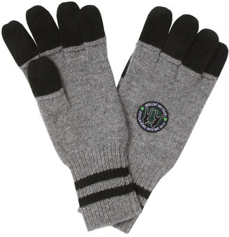 Michael Bastian Knitted Gym Gloves in Charcoal - by GANT