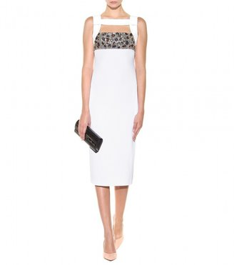 Burberry Embellished stretch-crepe dress