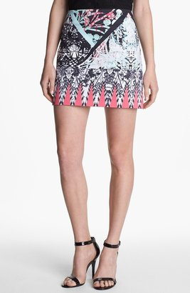 Kenneth Cole New York 'Juliet' Print Skirt Pink Flamingo Combo 14