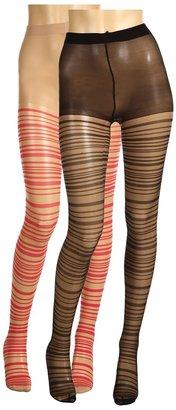 Anna Sui Shr Strips Tights 2 Pack Hos