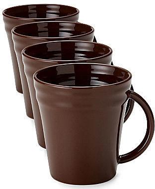 Rachael Ray Set of 4 Double Ridge Mugs