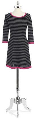 Eliza J Striped A-Line Sweater Dress