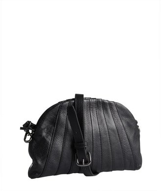 Kooba black leather scalloped 'Layla' crossbody bag