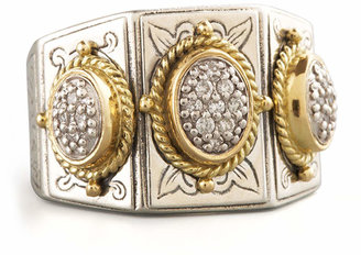 Konstantino Three-Stone Pave Ring