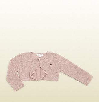 Gucci Pink And Light Gold Bolero Knit