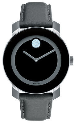 Movado Watch, Swiss Bold Large Gray Leather Strap 36mm 3600138
