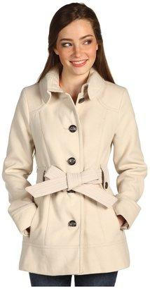 Kensie Single Breasted Wrap Coat (Vanilla) - Apparel