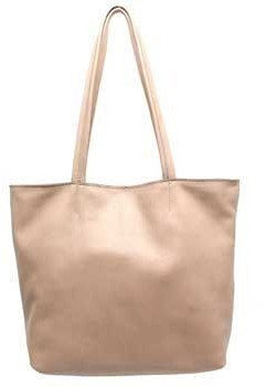 "Vin Baker Carlos"" Smooth Sand (Beige) Leather Tote"
