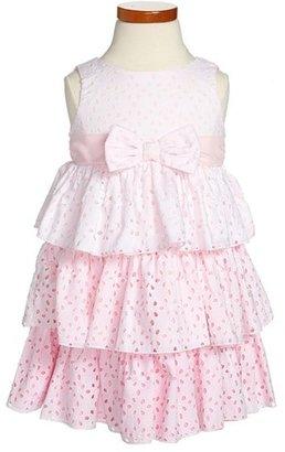Biscotti 'Eyelet Blush' Tiered Dress (Toddler Girls)