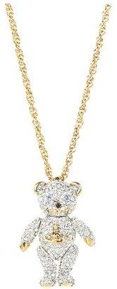 Vivienne Westwood Crystal Teddy Pendant (Crystal) - Jewelry