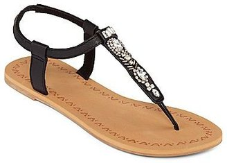 JCPenney Crystal T-Strap Thong Sandals
