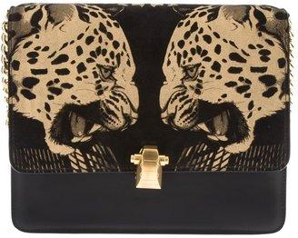 Roberto Cavalli leopard shoulder bag