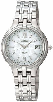 Seiko Women's Solar Stainless Steel Bracelet Watch 28mm SUT015 $225 thestylecure.com