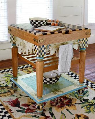 Mackenzie Childs MacKenzie-Childs Pressed Flower Butcher Block Table