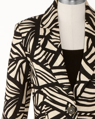 Coldwater Creek Exotic mini peplum jacket