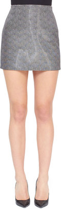 Alexander Wang Printed Liquid Miniskirt, Tweed