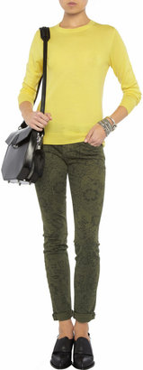 Current/Elliott The Rolled printed low-rise skinny jeans