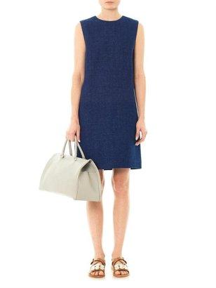 The Row Majay denim shift dress