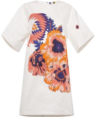 MSGM Optical Hibiscus T-Shirt Dress