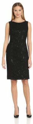 Anne Klein Women's Matte Jersey and Lace Dress